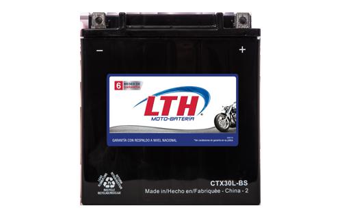 Batería para motos LTH CTX30L-BS Baterías para motocicleta tecnología AGM que absorben el electrolito mejorando