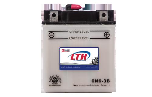 Batería de Motos LTH 6N6-3B ofrecen alta capacidad y duración, son de fácil mantenimiento y ofrece una gran variedad de tamaños y capacidades