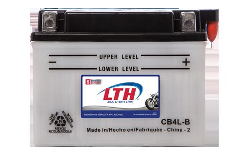 Batería de Motos LTH CB4L-B ofrecen alta capacidad y duración, son de fácil mantenimiento y ofrece una gran variedad de tamaños y capacidades