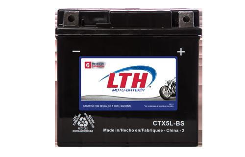 Batería para motos LTH CTX5L-BS Baterías para motocicleta tecnología AGM que absorben el electrolito mejorando