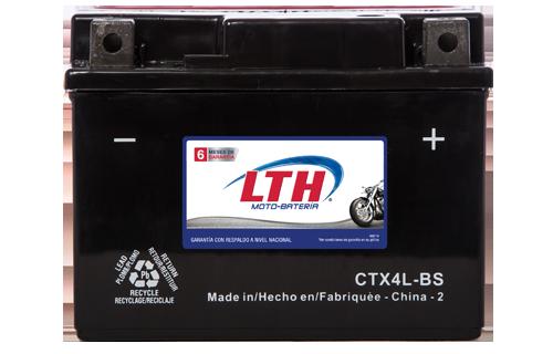 Batería para motos LTH CTX4L-BS Baterías para motocicleta tecnología AGM que absorben el electrolito mejorando