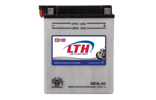 Batería de Motos LTH CB14L-A2 ofrecen alta capacidad y duración, son de fácil mantenimiento y ofrece una gran variedad de tamaños y capacidades