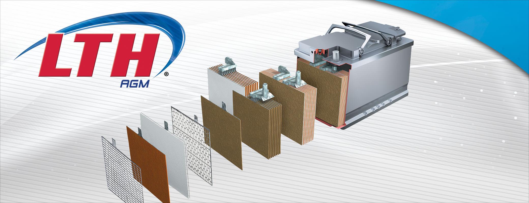 LTH AGM es una tecnología, uso de separadores de fibra de vidrio absorbente, los cuales contribuyen a mantener el ácido inmovilizado, evitando derrames
