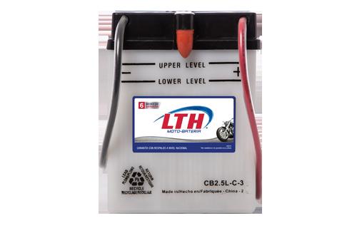 Batería de Motos LTH CB2.5L-C-3 ofrecen alta capacidad y duración, son de fácil mantenimiento y ofrece una gran variedad de tamaños y capacidades