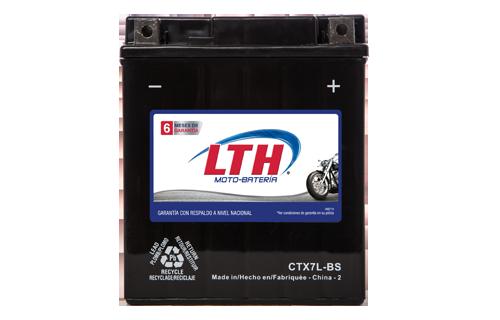 Batería para motos LTH CTX7L-BS Baterías para motocicleta tecnología AGM que absorben el electrolito mejorando