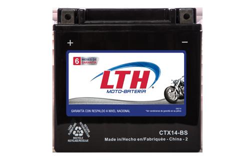 Batería para motos LTH CTX14-BS Baterías para motocicleta tecnología AGM que absorben el electrolito mejorando