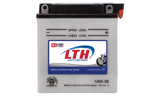 Batería de Motos LTH 12N5-3B ofrecen alta capacidad y duración, son de fácil mantenimiento y ofrece una gran variedad de tamaños y capacidades