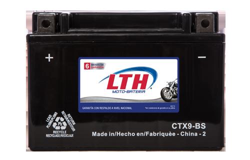 Batería para motos LTH CTX9-BS Baterías para motocicleta tecnología AGM que absorben el electrolito mejorando