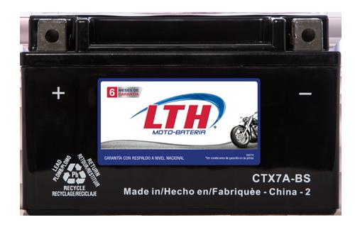 Batería para motos LTH CTX7A-BS Baterías para motocicleta tecnología AGM que absorben el electrolito mejorando