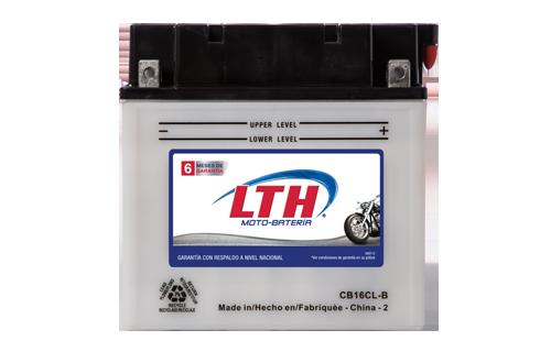 Batería de Motos LTH CB16-CL-B ofrecen alta capacidad y duración, son de fácil mantenimiento y ofrece una gran variedad de tamaños y capacidades